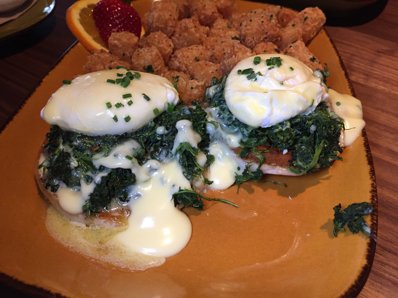 Veggie Bennie - A vegetarian take on Eggs Benedict - Jimmys Famous American Tavern