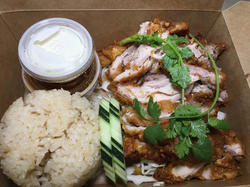 Fried Chicken with Hainanese Chicken Rice - Taishi