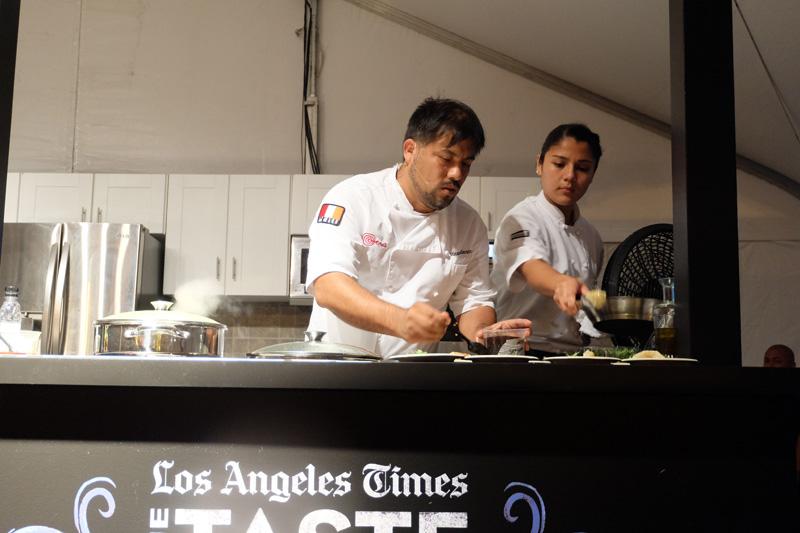 Chef Ricardo Zarate giving a food demo - The Taste