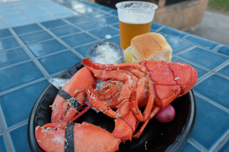 Maine Lobster dinner with a craft beer - Redondo Beach Lobster Festival