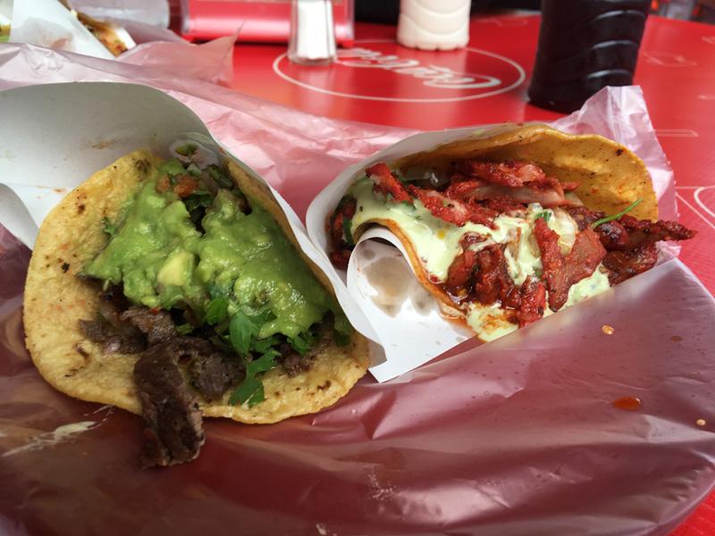 Carne Asada and Al Pastor tacos from Taconazo - Tijuana