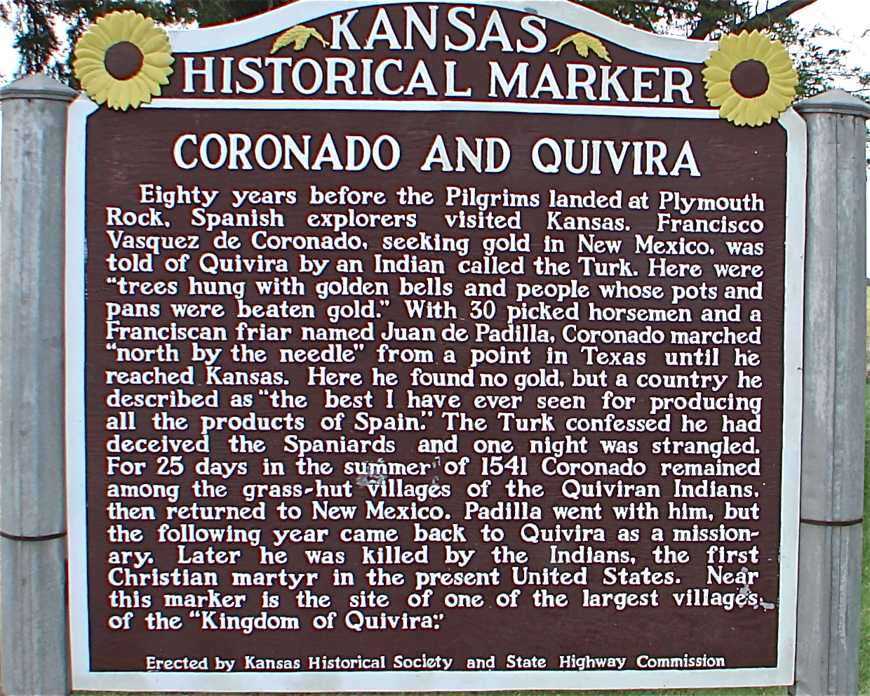Coronado in Kansas marker