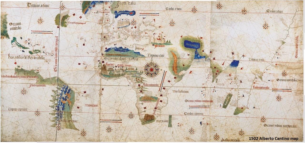 1502 Cantino map