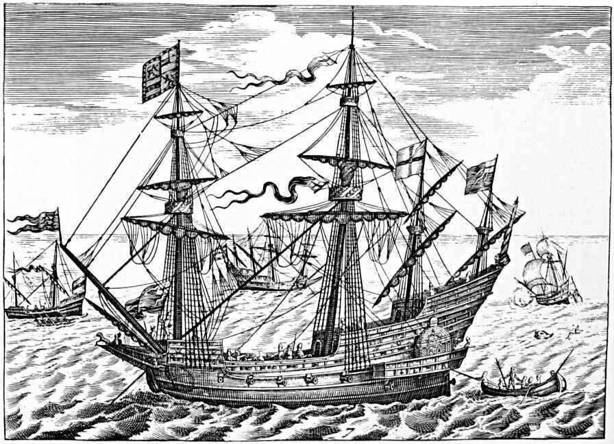 elizabethan war ship