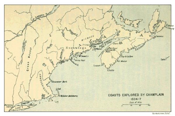 north coast map 1604-07