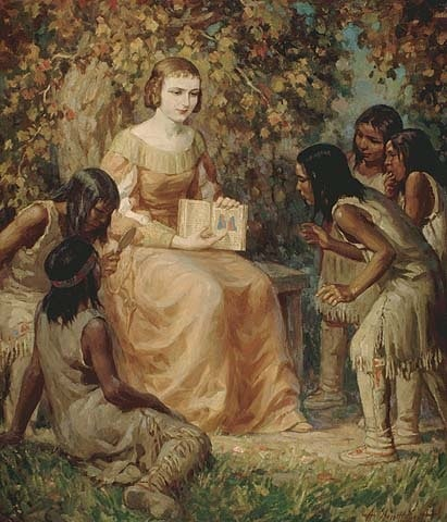 Helene Boulle with Indians