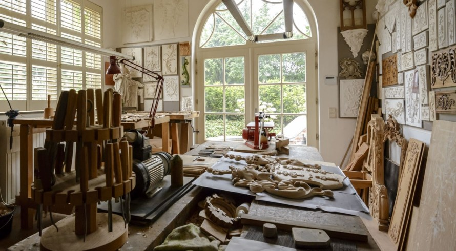Patrick Damiaens wood carver studio