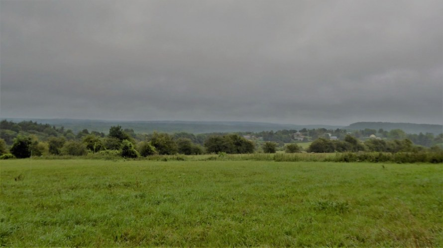 The Belgian Ardennes on a rainy day