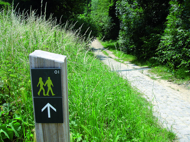 La Promenade Verte est bien indiquée