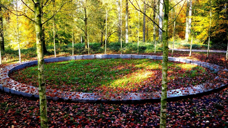 Foret de Soignes memorial circle as visited by author Derek Blyth