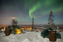 Glass Igloo Finland Northern Lights