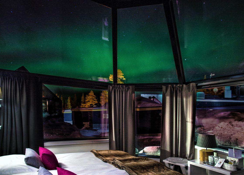 Santas Hotel Aurora Glass Igloos  Discovering Finland