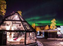 Winter Cabins in Finland Glass
