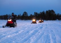 Evening Escape - Snowmobile Safari & Campfire In Rovaniemi
