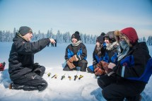 Snowmobiling Ice-fishing & Tasty Food Tour In Rovaniemi