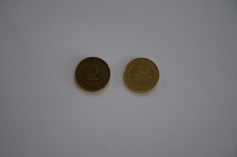 2 denar coin