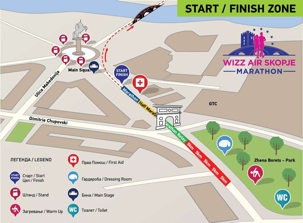 Wizz Air Marathon Skopje Starting Position