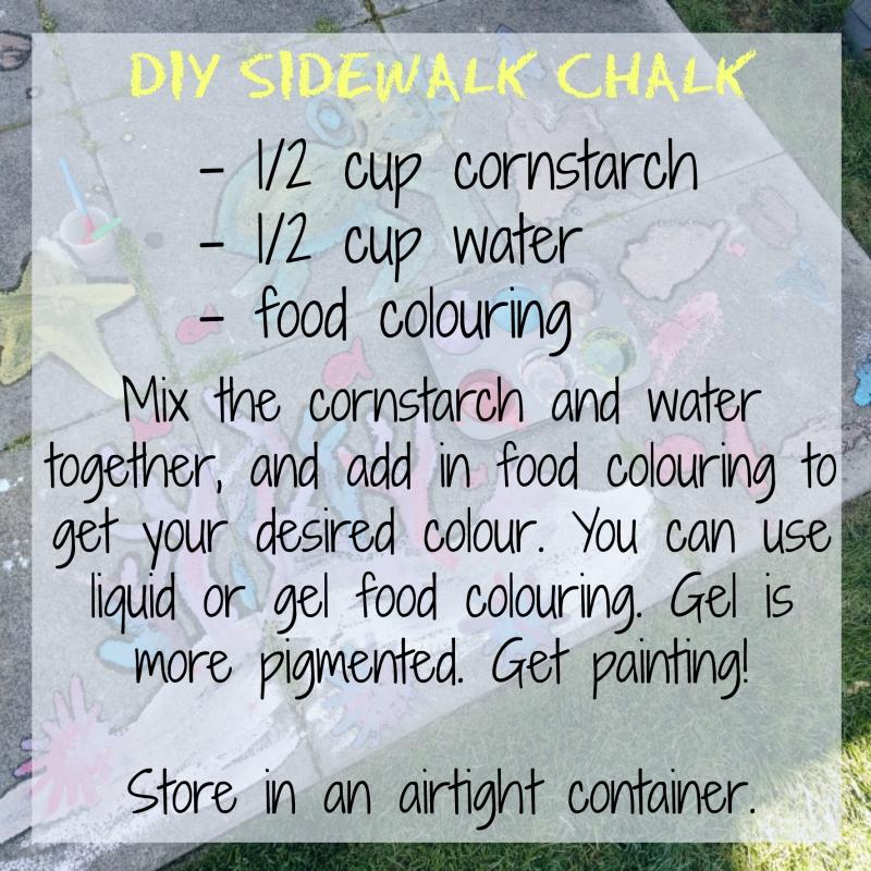 DIY sidewalk chalk recipe