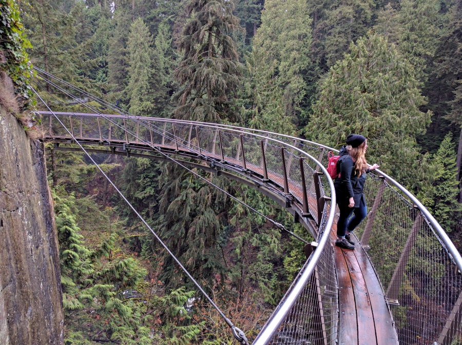 Capilano Suspension Bridge cliff walk