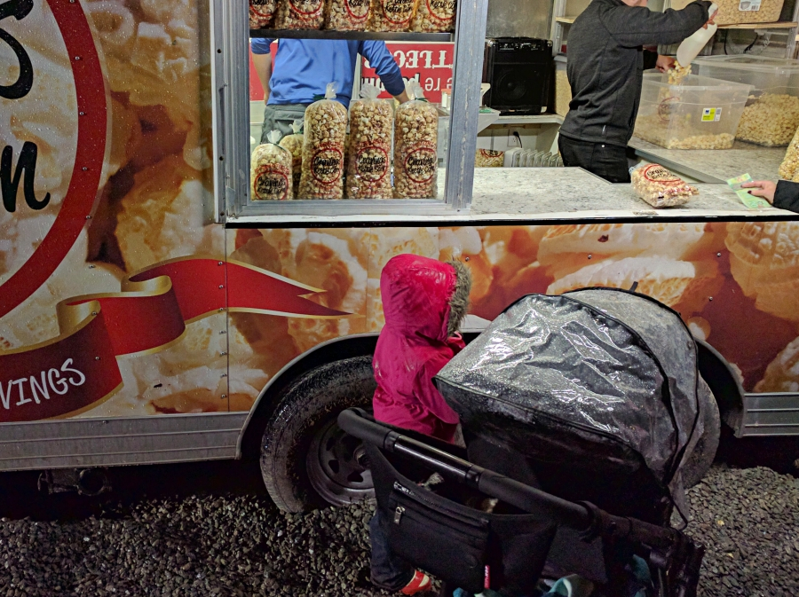Enchant Christmas in Vancouver, popcorn food truck