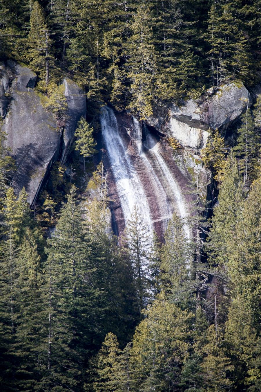 Squamish River Estuary, waterfall