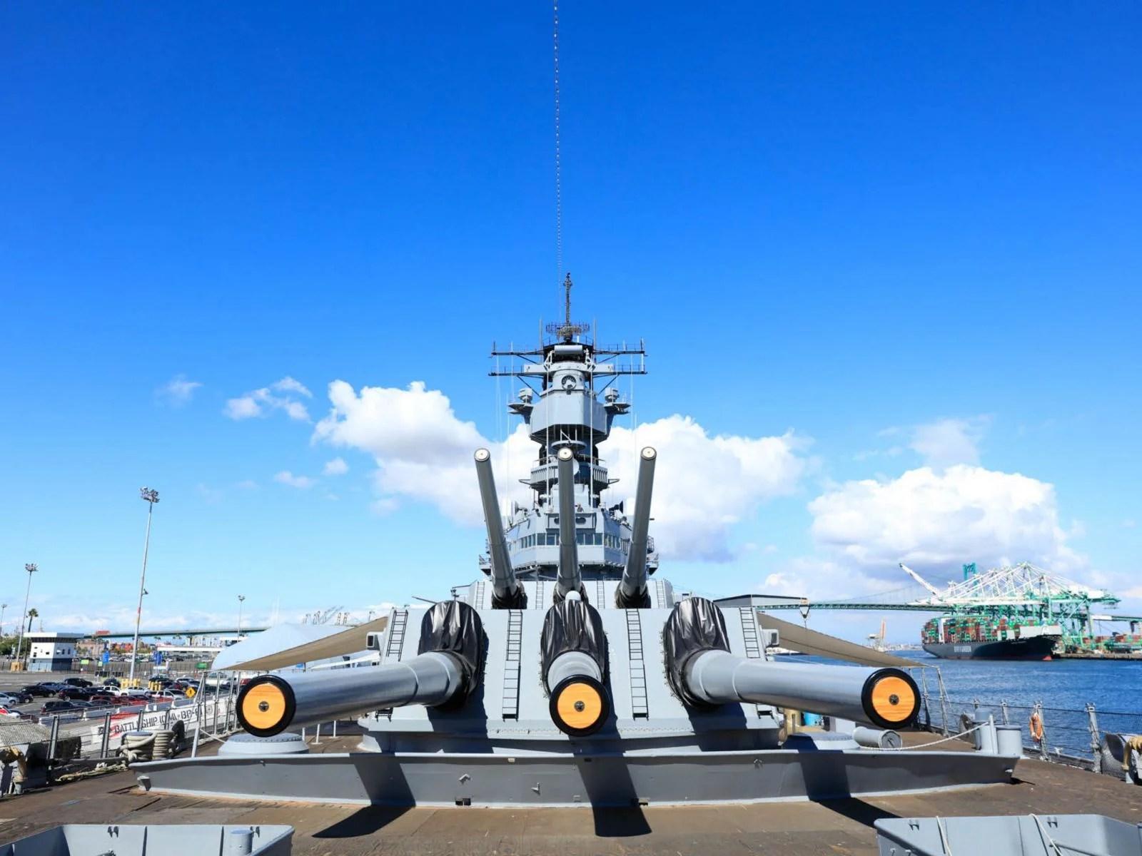 hight resolution of battleship iowa museum