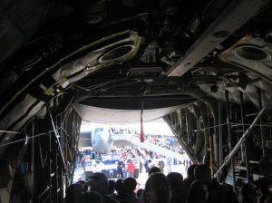 Interior of C130 Hercules at NATO Days 2012 Ostrava Czech Republic