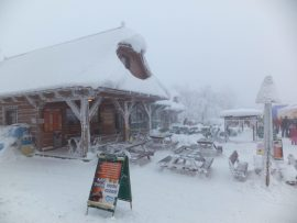Restaurant at Pustevny, Beskydy mountains, Czech Republic.
