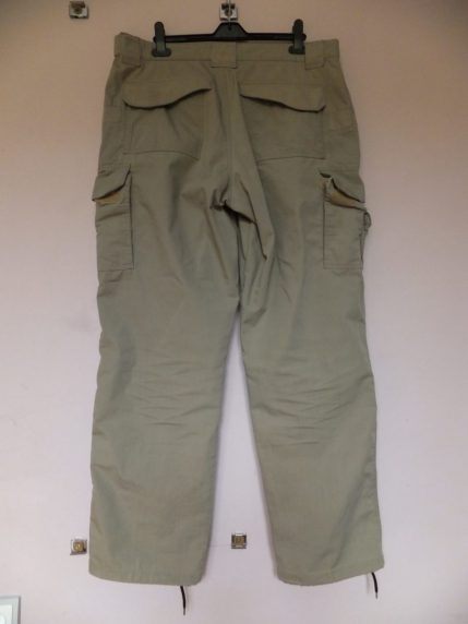 Tru-Spec 24-7 trousers. Rear view showing pockets, fastenings, seams and general heavy-duty ruggedness.