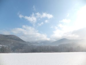 Cross-country skiing, Ostravice, Beskydy Mountains, Czech Republic, Europe.