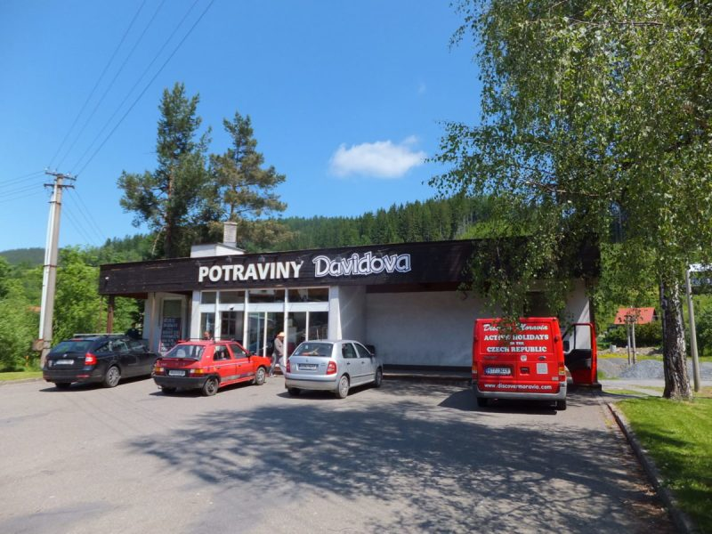 If the supermarket's closed, this general grocery shop has almost everything you could need to survive the weekend. Including some very nice cider! Czech camping.