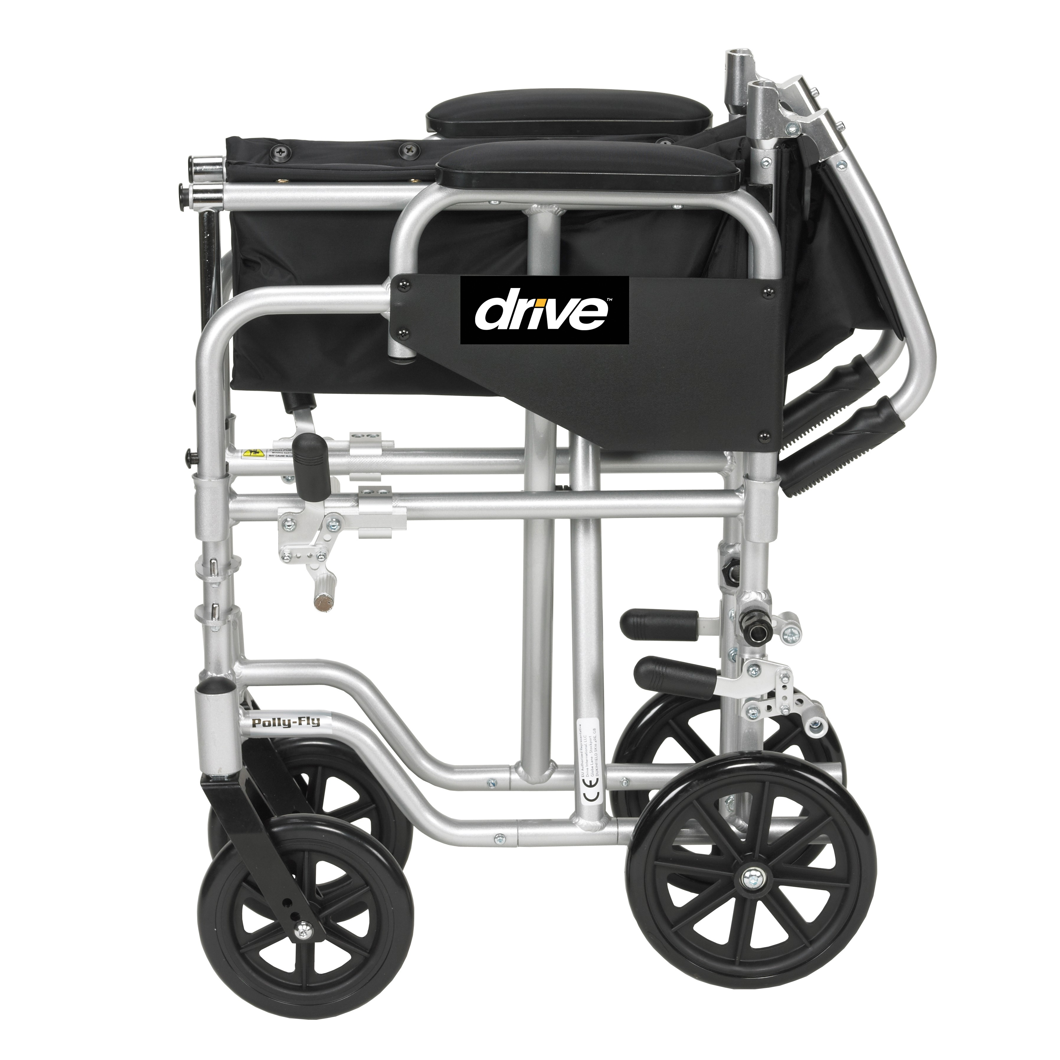 drive medical transport chair folding chairs home depot poly fly high strength lightweight