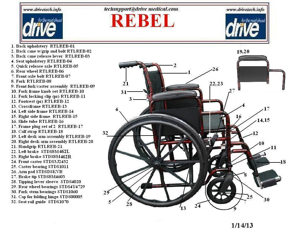 chair parts names resin lawn chairs drive medical rebel wheelchair single axle