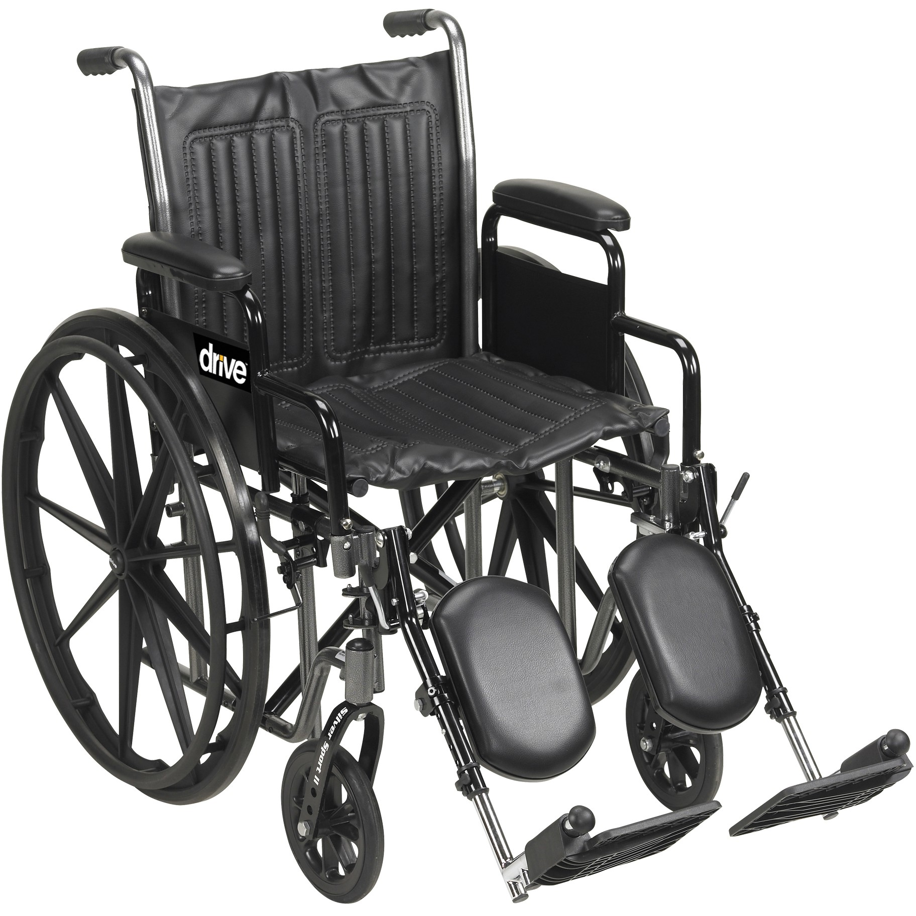 drive shower chair weight limit butterfly pedicure medical silver sport 2 wheelchair with dual axle