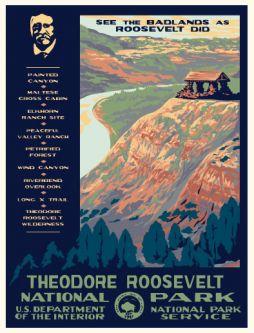 big bend national park vintage poster