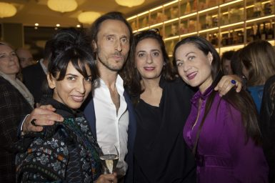 Me, David Holder, India Mahdavi and Suryia Graf