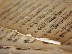 Sheet music curled edges