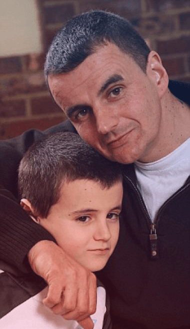 Alfie Patten with his father