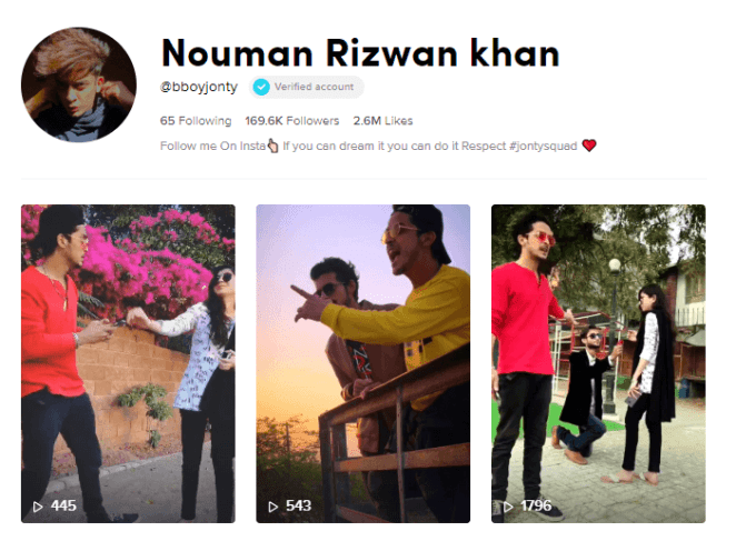 Nouman Rizwan Khan on Tiktok