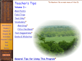 The Teacher's Tips section contains your printable pages for each unit...