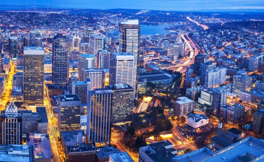 View from Sky View Observatory Seattle