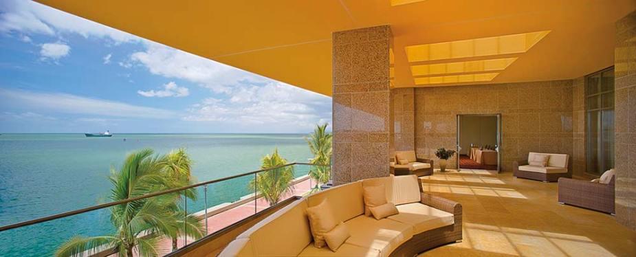 The Ocean View Lounge at the Hyatt Regency Trinidad