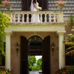 A bride on the balcony. Photo Yaisa Tangwell via the Villas at Stonehaven Tobago