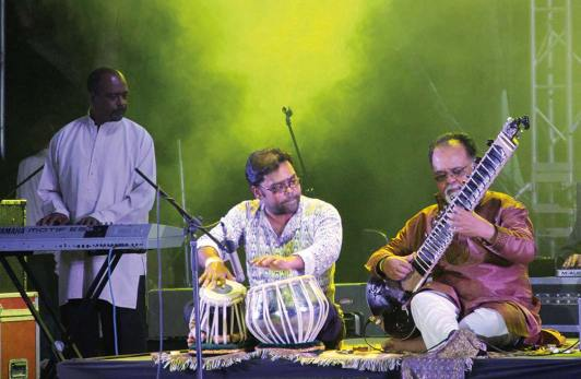 Mungal Patasar and Pantar, one of Trinidad's exciting fusion groups. Photo: Marissa Rodriguez