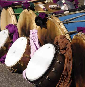 Tassa drums ready for Hosay celebrations. Photographer: CafeMoka