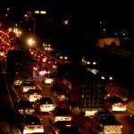 Traffic on the Churchill-Roosevelt Highway. Photographer: Jennifer Watson