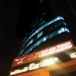 The T&T Stock Exchange by night in Port of Spain. Photographer: Edison Boodoosingh