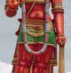 The imposing Hanuman murti (statue) near Chaguanas. Photographer: Bertrand de Peaza