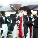 The traditional Tobago wedding procession in Moriah