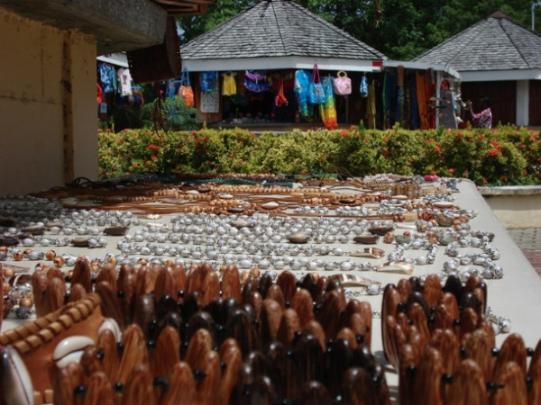 Shopping stalls at Store Bay. Photographer: Courtesy T&T Business Guide